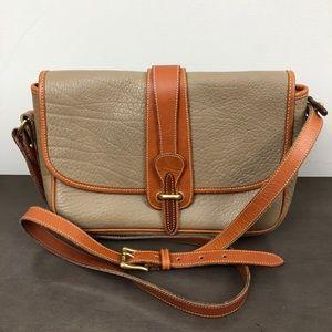 Dooney & Bourke Vintage Leather Flap Crossbody Bag